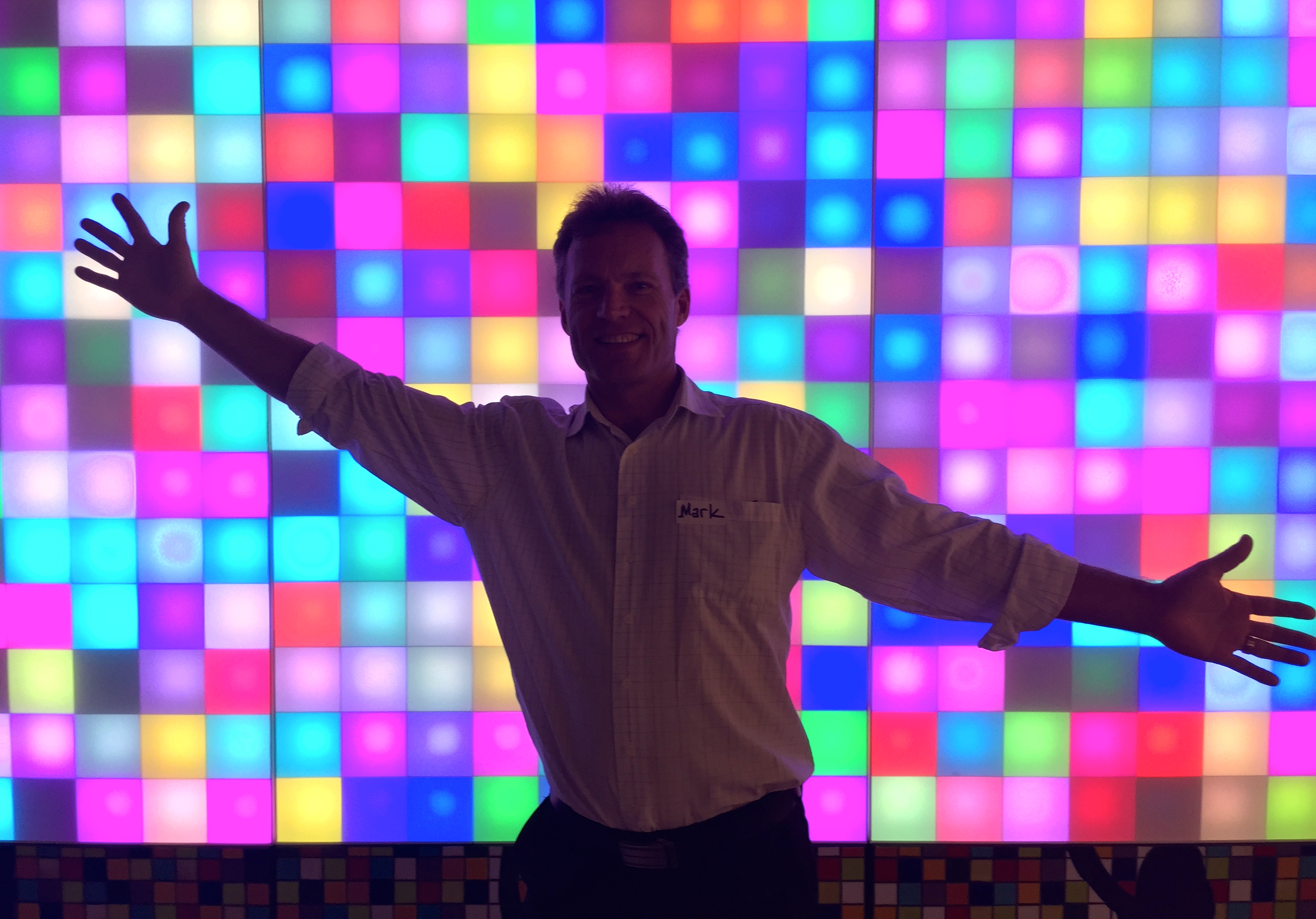 Sunshine Coast Interactive Light Wall at Advance Queensland Summit